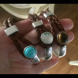 Jewelry - Cuff bracelet custom three different stones